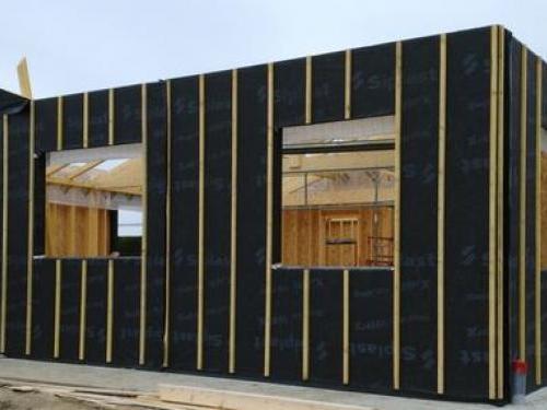 Maison bois peparation Bardage